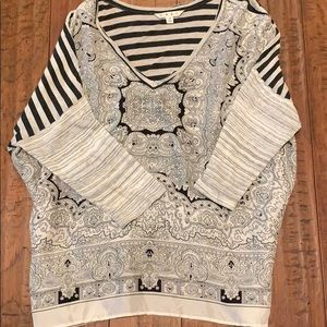 Cabi bandana print silk  blouse